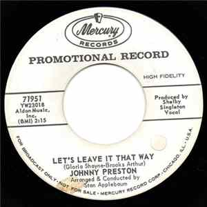 Johnny Preston - Let's Leave It That Way / Broken Hearts Anonymous Album